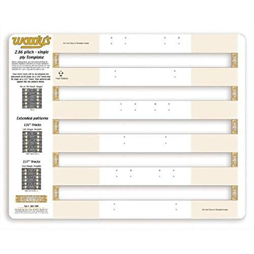 - Woodys Studding Templates - 2.86in. Pitch - Single Ply 286S-TEMP