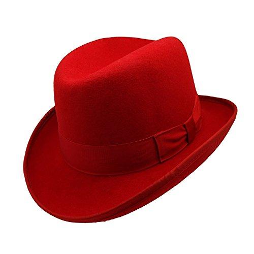 3b4a3efa753 HATsanity Unisex Vintage Wool Felt Homburg Hat Red - Buy Online in UAE.