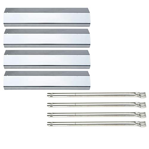 Direct store Parts Kit DG192 Replacement Amana AM26LP,AM27LP,AM30LP-P,AM33LP-P,Surefire SF278LP,SF308LP Gas Barbecue Grill Burners&Heat Plates- 4 Pack (SS Burner + SS Heat Plate)