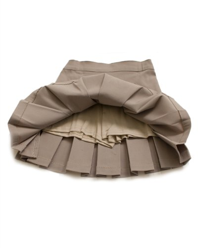 Girls Khaki Pleated Scooter Skort School Uniform