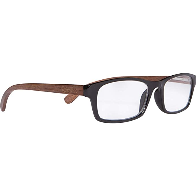 edeb4d9f57 Amazon.com  WOODIES Walnut Wood Reader Glasses with Clear Magnified ...