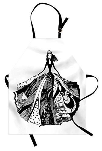 Miss Sweetheart Curly Hair Apron, Modern Fashion Model for sale  Delivered anywhere in USA