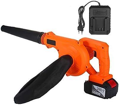 KKmoon Soplador de hojas inalámbrico,Aspiradora 21V 4.0 Ah,Batería de litio Eléctrico,Barredora y aspiradora,2 en 1 para limpiar polvo Hoja de nieve: Amazon.es: Bricolaje y herramientas