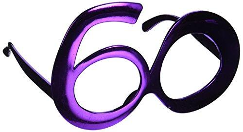 60 Metallic Fanci-Frames (asstd blue, purple, red) Party Accessory  (1 count) - Sunglasses Store Com