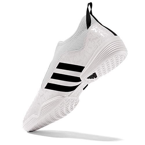 adidas Contestant Martial Arts Taekwondo Indoor Mat Training Shoes - White Black - Size 8 (260CM)