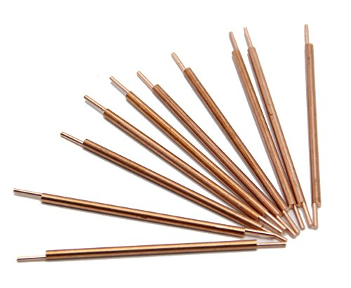 Huanyu 3×81mm Double Head Copper Spot Welding Rods Electrodes for Spot Welder, a Pack of 10 Pcs by Huanyu