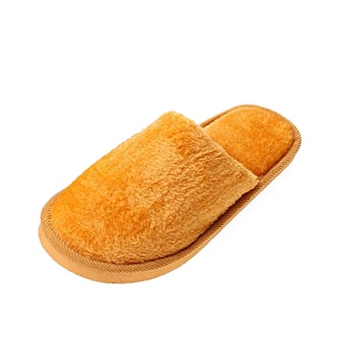 Beautylife88 Slippers Men proof Dark yellow Skid Indoor Plush Soft Slipper YwFzxfYqr7