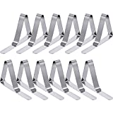 TecUnite 36 Pack Tablecloth Clips Stainless Steel Table Cloth Cover Clamps Holder for Home, Dining, Picnic, Party and Wedding