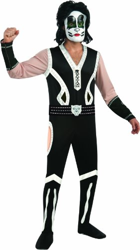 Catman Kiss Costumes (Kiss The Catman Costume, Black/White, Large)