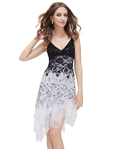 HE00045WH12 Multiple(white) 10US Ever Pretty Cocktail Club Summer Dress 00045