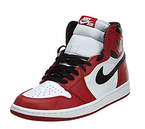 Jordan Air 1 Retro High OG Chicago - 555088 101 Sneaker Basketball Shoes (8.5) - 1 Jordan Air White Mens