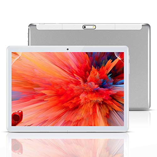 Tablet 10 Inch, Android 10, 4G LTE, 64GB RAM, 4GB ROM, Octa Core, HD, WiFi, GPS, GSM, Dual Sim Card, Cheap, 1080P IPS…
