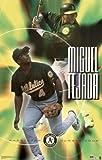 Miguel Tejada Oakland A's Shortstop #4 34x22.5 Sports Art Print Poster Baseball