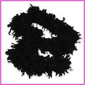 6' Black Play Fancy Dress Up Toy Feather Boa ()