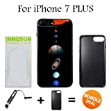 Innosub Custom iPhone 7 PLUS Case (Solar System Planets ) Edge-to-Edge Rubber Black Cover with Shock and Scratch Protection | Lightweight, Ultra-Slim | Includes Stylus Pen