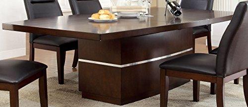 Adara Wood - Furniture of America Adara Modern LED-Illuminated Dining Table