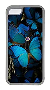 iPhone 5c case, Cute Beautiful Blue Butterfly 2 iPhone 5c Cover, iPhone 5c Cases, Soft Clear iPhone 5c Covers