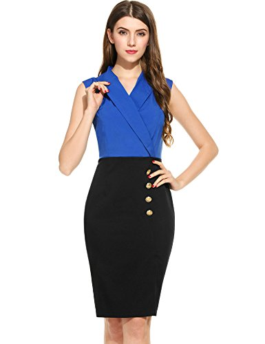 ANGVNS Womens Sleeveless Business Cocktail