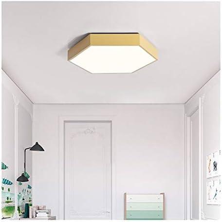 GLANGYU Deckenleuchten Ultradünnes LED Moderne Deckenleuchte Hexagon Eisen Acryl Innen Lampe Küche Bett Room Porch Dekoration Licht Leuchte (Body Color : White, Size : 3 Position)
