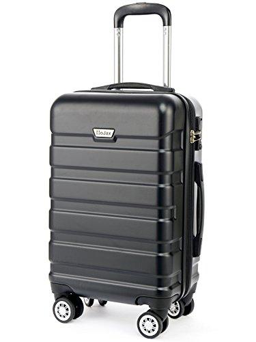 HoJax 20 inch Hardside Spinner Luggage Lightweight Carry On Black