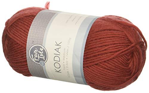 Fair Isle Yarn 1019107591 Kodiak Superwash Wool Yarn, Solid Terra Cotta