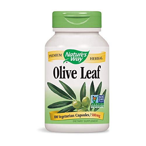 Nature's Way Premium Herbal Olive Leaf 500 mg, 100 VCaps (Packaging May Vary)