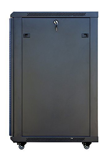 18U 24'' Depth Server Rack Cabinet Enclosure Fully Equipped! ACCESSORIES FREE! Fully Lockable Network IT 19'' Enclosure Box by Sysracks (Image #2)