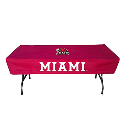 Rivalry Sports College Team Logo Miami (OH) 6 Foot Table Cover -