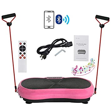 HomGarden Vibration Platform Fitness Vibration Plates Workout Massage Machine Full Body Crazy Fit Exercise Equipment for Weight Loss w//Bluetooth