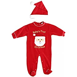 Just Love 3801-6-9M Baby Coveralls, Santa Face, 6-9 Months