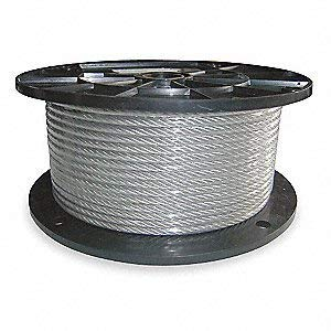 Plastic Coated Wire Rope - Vinyl Coated Wire Rope Aircraft Cable, 3/16-Inch Thru 1/4-Inch 7x19 : 50, 100, 250, 500 & 1,000 ft (100 ft Coil)