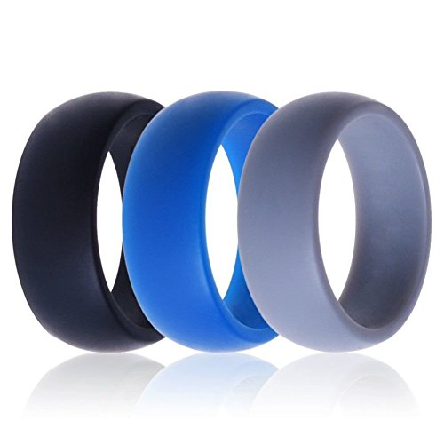 QALO Mens Silicone Wedding Ring Silicone Rings Designed For