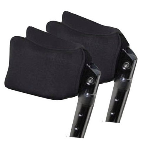 Crutcheze Forearm Crutch Pads, Covers for Arm Cuffs (Pr), Black Airflex Ultra Plus - Breathable, Ultimate Cushion, Moisture Wicking, Antibacterial, Washable Forearm Crutch Accessories Drive Steel Forearm Crutches