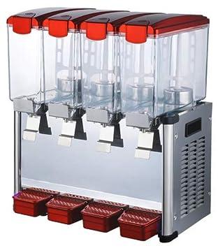 Envío gratuito a la puerta 4 * 9L Tanques dispensador de zumo Frozen bebidas Frozen frutas zumo dispensador de bebidas Frozen máquina de zumo bebe hielo té ...