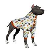 LovinPet Large Dog Pajamas, Post Surgery Wear Pitbull Cotton Large Dog Shirt for Labrador Doberman Boxer Review