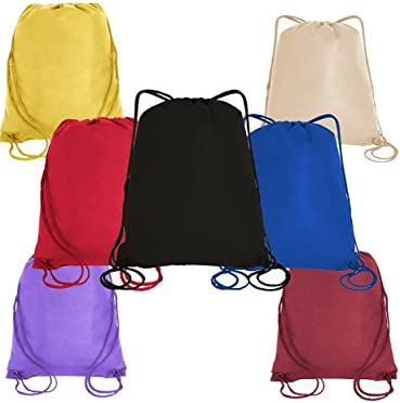 Cinch Bags Sport packs Gift Bag Sports Backpacks Well Made Drawstring Backpack Bags 50, Royal Non-Woven Polypropylene Drawstring Bag Sack Packs