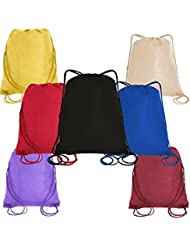 Pack of 25 - Non-Woven Promotional Drawstring Backpack Bags in BULK
