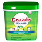 Cascade Total Clean Gel Dishwasher Detergent Pacs, Fresh Scent (105 ct.) (pack of 6)