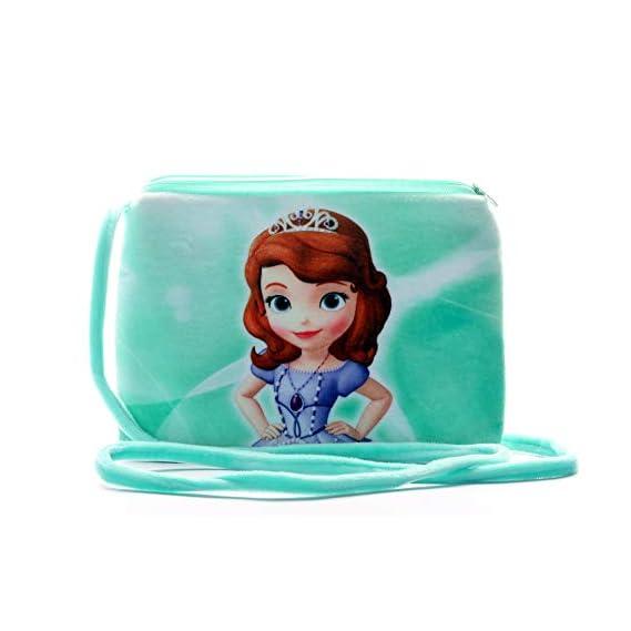HC Toys LLP Rapunzel Princesses Girl's Soft Canvas Sling Bag (Red)