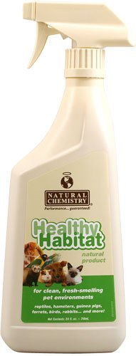 Reptile Habitat Cage (Natural Chemistry Healthy Habitat Cleaner and Deodorizer Reptile & Small Pets , 24 oz)