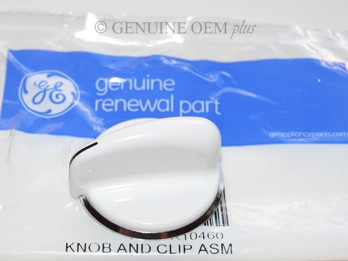 PART # WH01X10460 GENUINE FACTORY OEM ORIGINAL DRYER OR WASHER WHITE SELECTOR KNOB FOR GE AND HOTPOINT