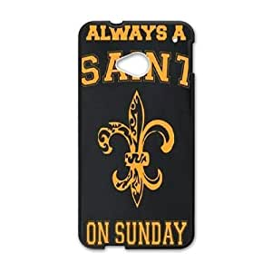 HTC One M7 Phone Case Black New Orleans Saints JDL695562