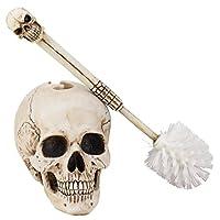 Skull Head Toilet Brush Set - set 2