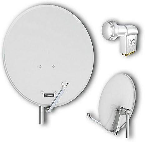 Gris Acero Antena satelital 80 Opticum QA luz Octo LNB LOP ...