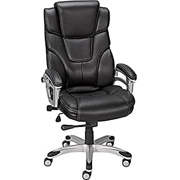 Amazon Com Staples Baird Bonded Leather Managers Chair