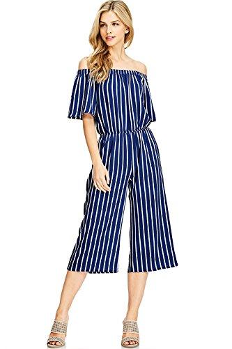 b6714afc0ec2 Ambiance Apparel Women s Juniors Striped Short Sleeve Jumper - Buy ...