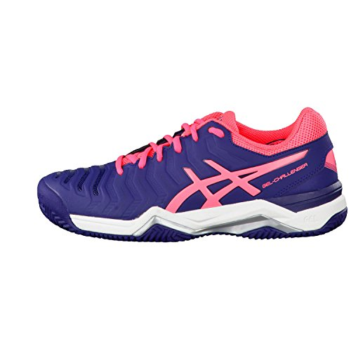 Gel Pink 11 Women's Silver Shoes Tennis Asics Blue Clay Diva Challenger Indigo AqxExvndFw