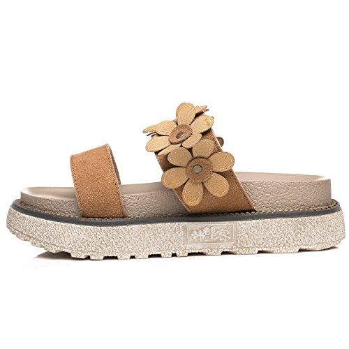 Student Camello Sandalias Plataforma Casual QQWWEERRTT Nuevo Simple de Verano Planas de Universal Moda Suela Gruesa Zapatos Sandals de wqqT8O