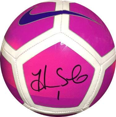 Hope Solo signed Nike Oficial Size 5 Pink Soccer Ball  1- Witnessed  Hologram (Olympics Team USA World Cup) - JSA Certified at Amazon s Sports  Collectibles ... e898028fc2a2