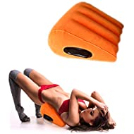 Sex Toys Pillow Wedge Positioning Cushion Triangle Sex Pillow Misstu Sex Furniture Inflatable Ramp for Couples Deeper Penetration Women Men Relaxation (Orange)